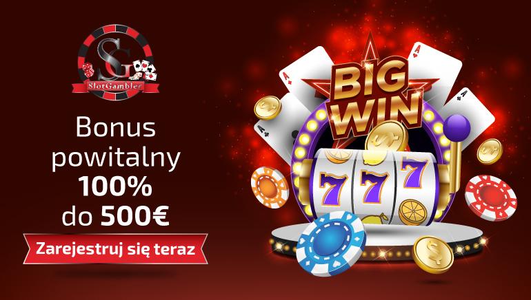 Slotgambler Casino oferuje 100% bonus aż do wysokości 500 EUR