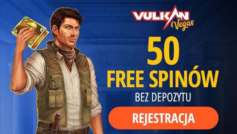 Vulkan Vegas - BEZ DEPOZYTU FS50 On Book of Dead
