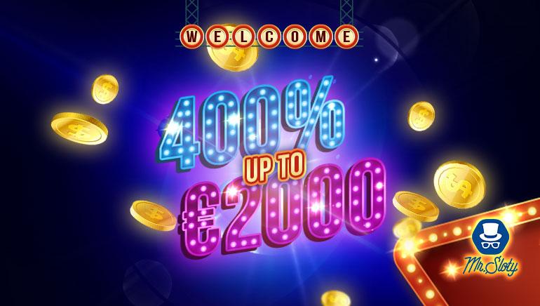 MrSloty Casino - PAKIET BONUSÓW €6000 (5 Deposits)