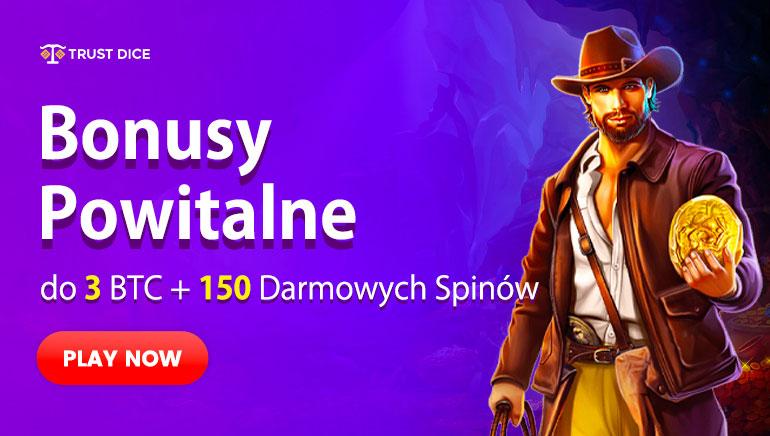 Trust Dice - BONUS POWITALNY €10000 100% Match Bonus + BONUS DARMOWE SPINY 25 Free Slots Bonus