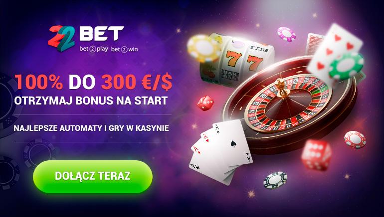 Bonus powitalny 100% do 300 €/$ - najlepsze automaty i gry kasynowe