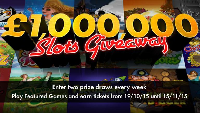 Zgarnij fortunę biorąc udział w loterii £1,000,000/$1,500,000 w kasynie bet365