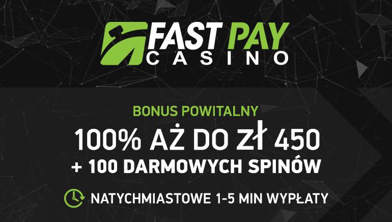 450 zł bonus i 100 darmowych gier w ruletkę - teraz w FastPay Casino!