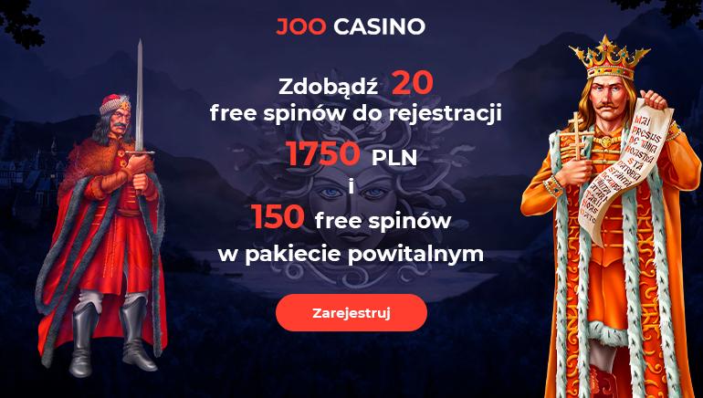 Rozpocznij 2020 z przytupem rejestrując się w Joo Casino i otrzymując 150% bonus aż do 1750 zł plus 100 darmowych gier w ruletkę