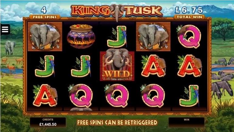 Nowy hit na automaty o motywie przewodnim Słonia, Króla Kłów od Microgaming