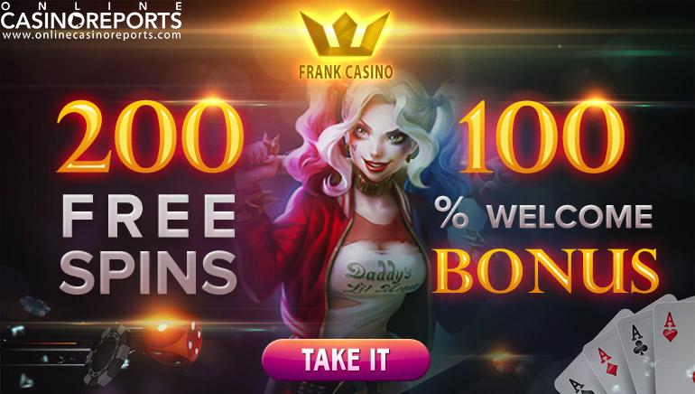 Zdobądź 200 darmowych gier w ruletkę i ciesz się znakomitą ofertą gier Frank Casino