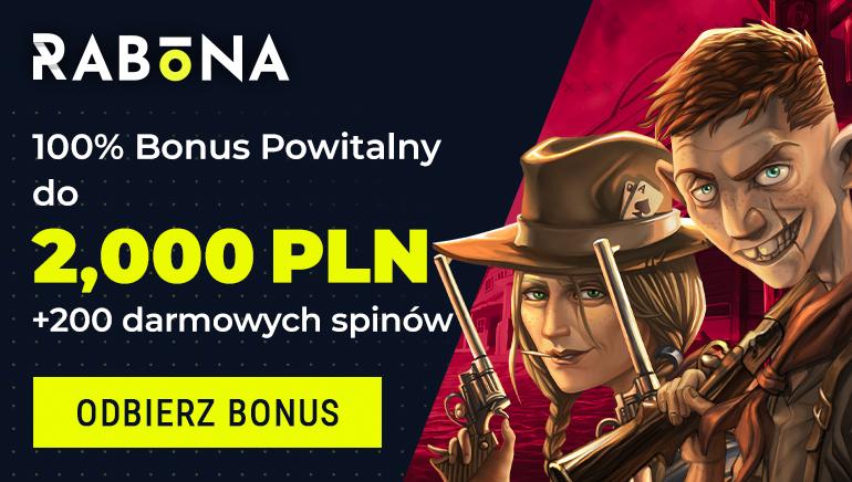 Odbierz bonus Rabona w wysokości 2000 zł i 200 darmowych gier w ruletkę