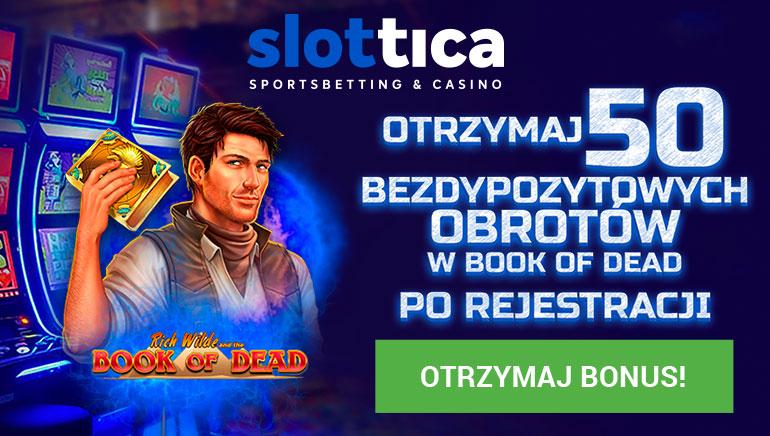 50 Darmowych gier już czeka na nowych graczy w Slottica Casino