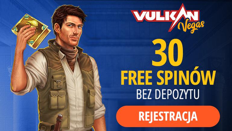 Vulkan Vegas Casino oferuje 30 darmowych gier w ruletkę