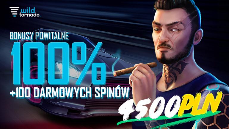 Wild Tornado Casino - BONUS POWITALNY zł4500 Code: WILD100 100% Match Bonus Min. Deposit: zł50 + BONUS DARMOWE SPINY 100