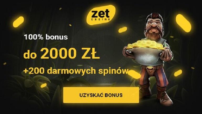 Ogromny bonus powitalny - 2000 zł i 200 darmowych gier w ruletkę w Zet Casino